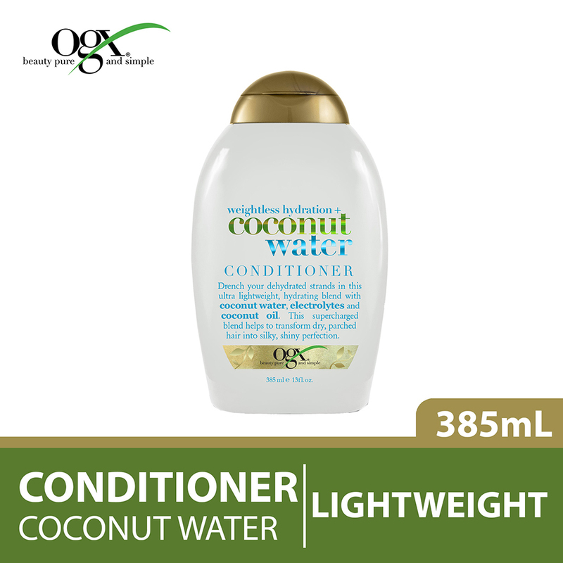 Ogx Weightless Hydration Coconut Water Conditioner, 385ml