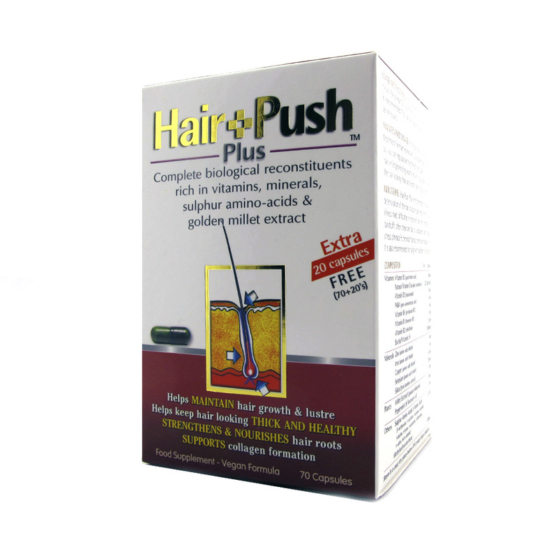 Hair Push Plus Food Supplement, 70 capsules