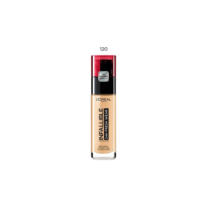 LOREAL PARIS MAKEUP infallible 24h fresh wear foundation 120 vanilla