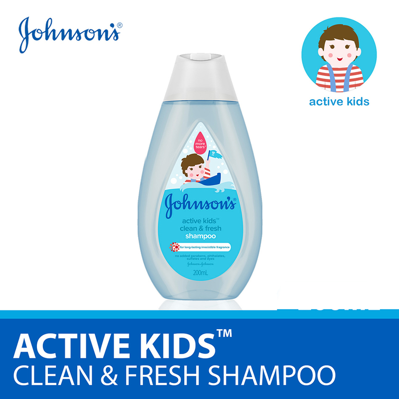 Johnson's Baby Active Kids Clean & Fresh Shampoo 200ml