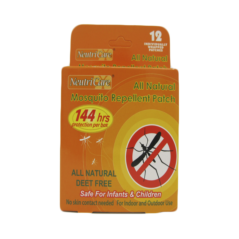 NeutriCare All Natural Mosquito Repellent Patch, 12pcs