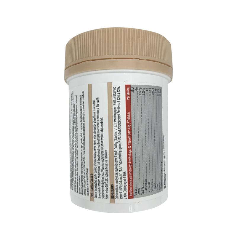 Swisse Ultiboost Calcium+Vitamin D 90 Tablets