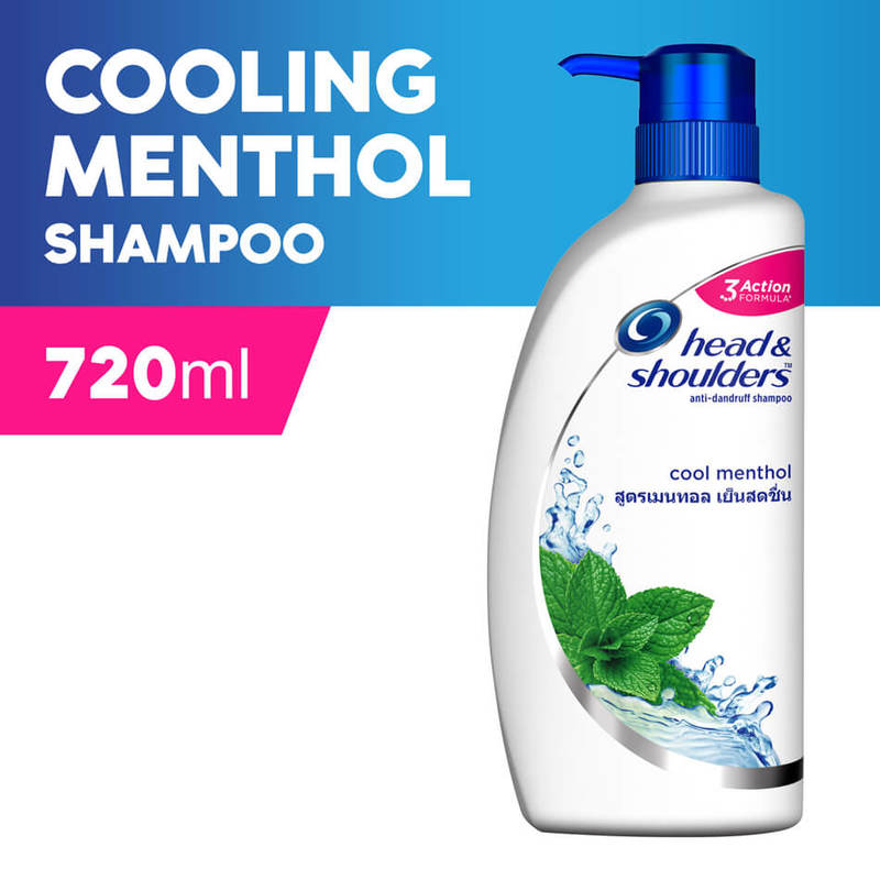 Head & Shoulders Cool Menthol Anti-Dandruff Shampoo, 720ml