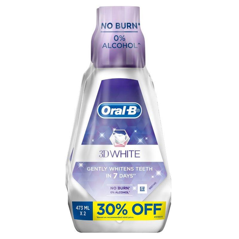 Oral-B 3D White Rinse Bundle Pack (473ml x 2)