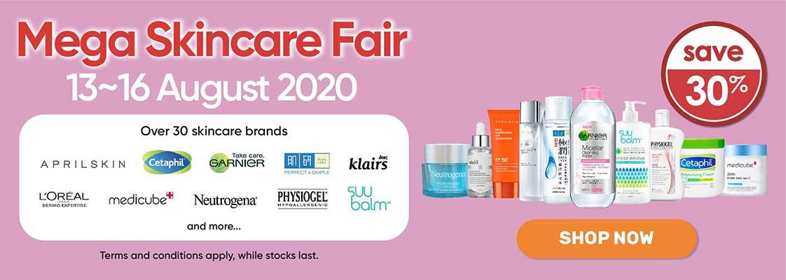 Mega Skincare Fair - 13 Aug