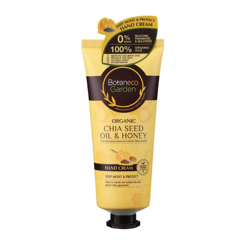 Botaneco Garden Organic Chia Seed and Honey Hand Cream, 60g