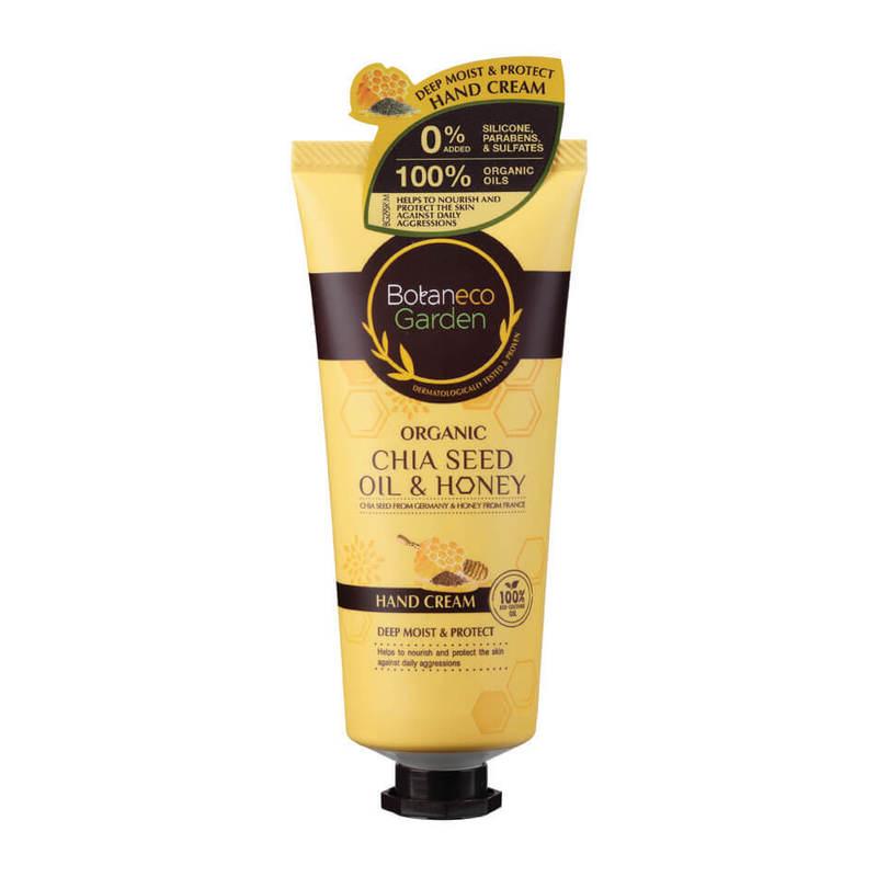 Botaneco Garden Organic Chia Seed and Honey Hand Cream, 60g