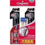 Colgate Slim Soft Charcoal Toothbrush Buy 2 FOC Total 60g