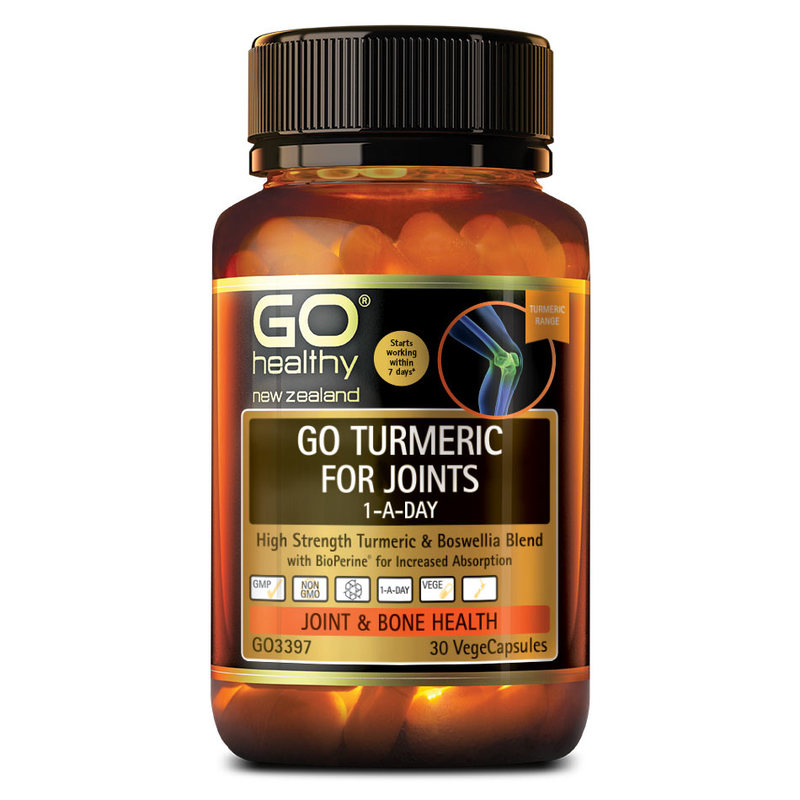 GO Healthy Go Turmeric For Joints, 30 capsules