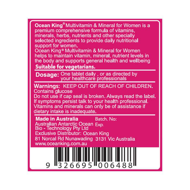 Ocean King Multivitamin & Minerals for Women Chewable, 90 tabs