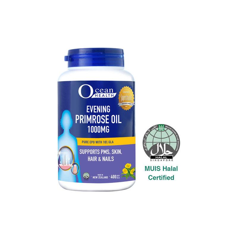 Ocean Health Evening Primrose Oil 1000mg, 400 softgels