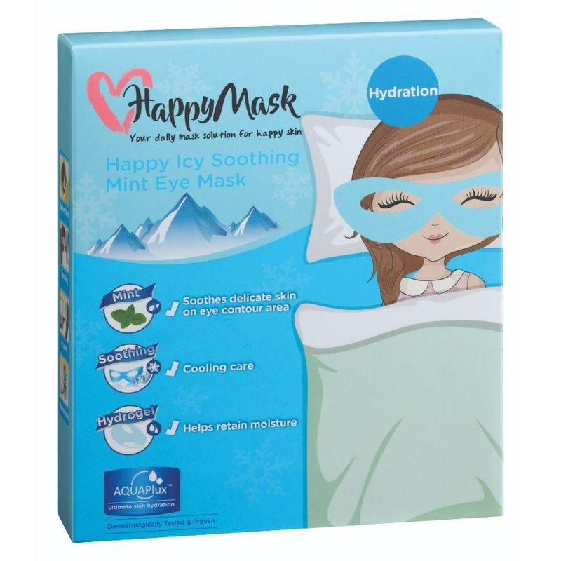 HappyMask Happy Icy Soothing Eye Mask Cool Mint, 5pcs