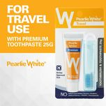 Pearlie White Travel Toothbrush with Premium Fluoride Toothpaste