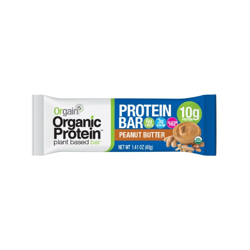 Orgain Organic Plant Based Peanut Butter Protein Bar, 40g