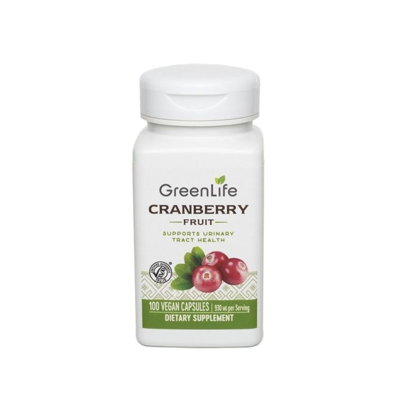 GreenLife Cranberry Fruit Dietary Supplement, 100 capsules