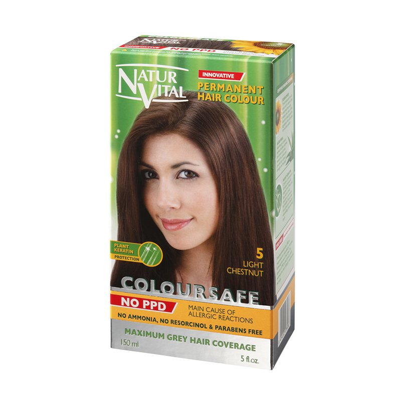 Natur Vital ColourSafe Permanent Hair Dye  Light Chestnut