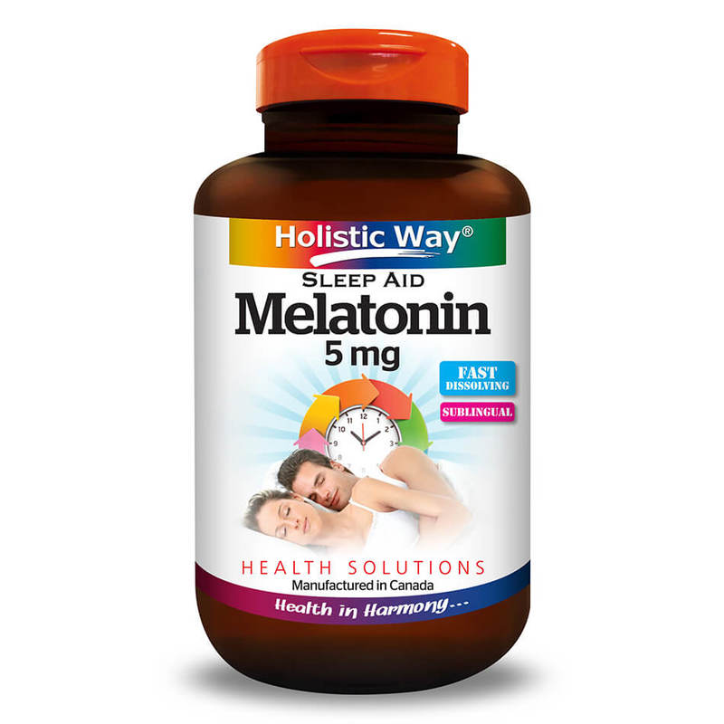 Holistic Way Melatonin 5mg, 30 tablets