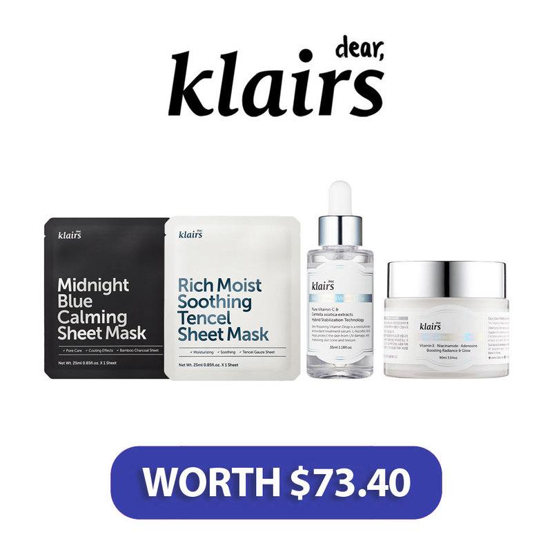 Dear, Klairs Beauty Box worth $73.40