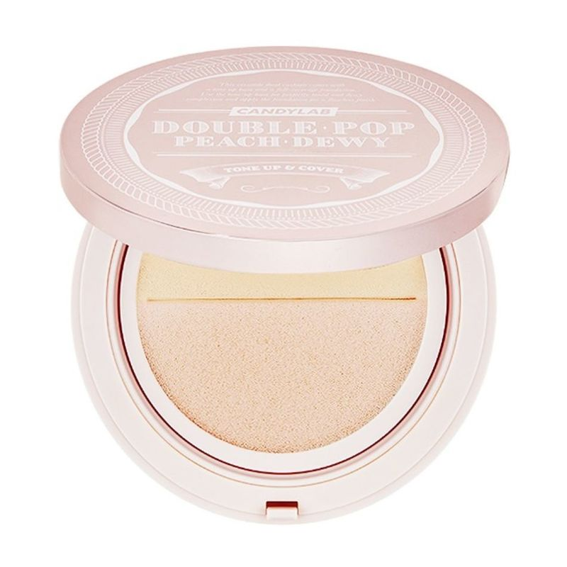 Candylab Double Pop Cushion 17 Porcelain Peach