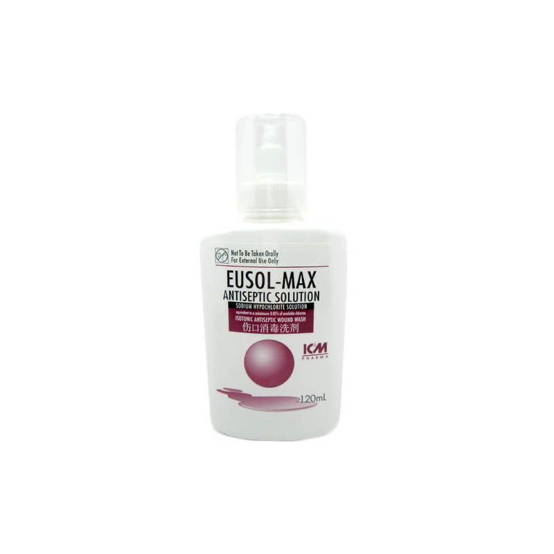 ICM Pharma Eusol-Max Antiseptic Solution, 120ml