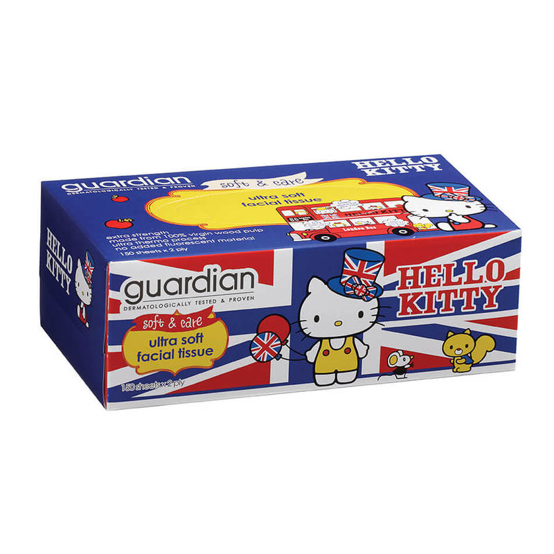 Guardian Hello Kitty Box Tissue, 4x2plyx150pcs