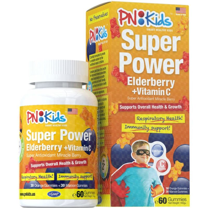 PNKids Super Power Elderberry + Vitamin C, 60 Gummies
