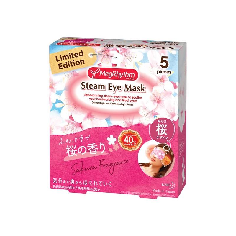 MegRhythm Steam Eye Mask Limited Edition Sakura 5S