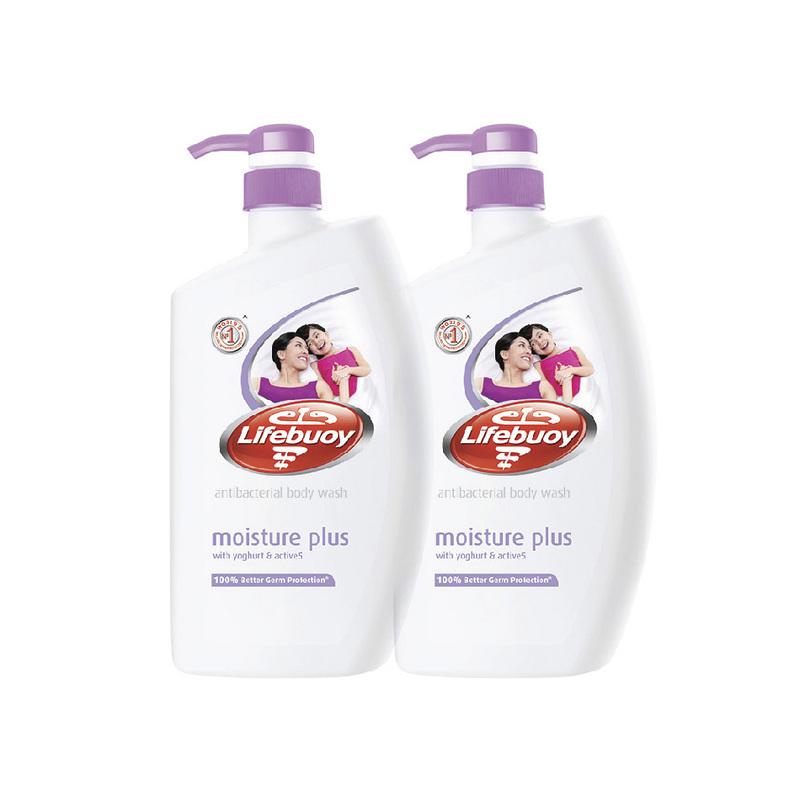 Lifebuoy Moisture Plus Body Wash Value Pack, 2x1L