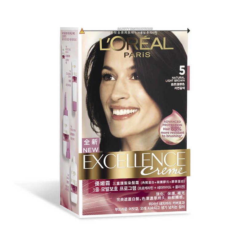 L'Oreal Excellence Creme 5 Natural Light Brown