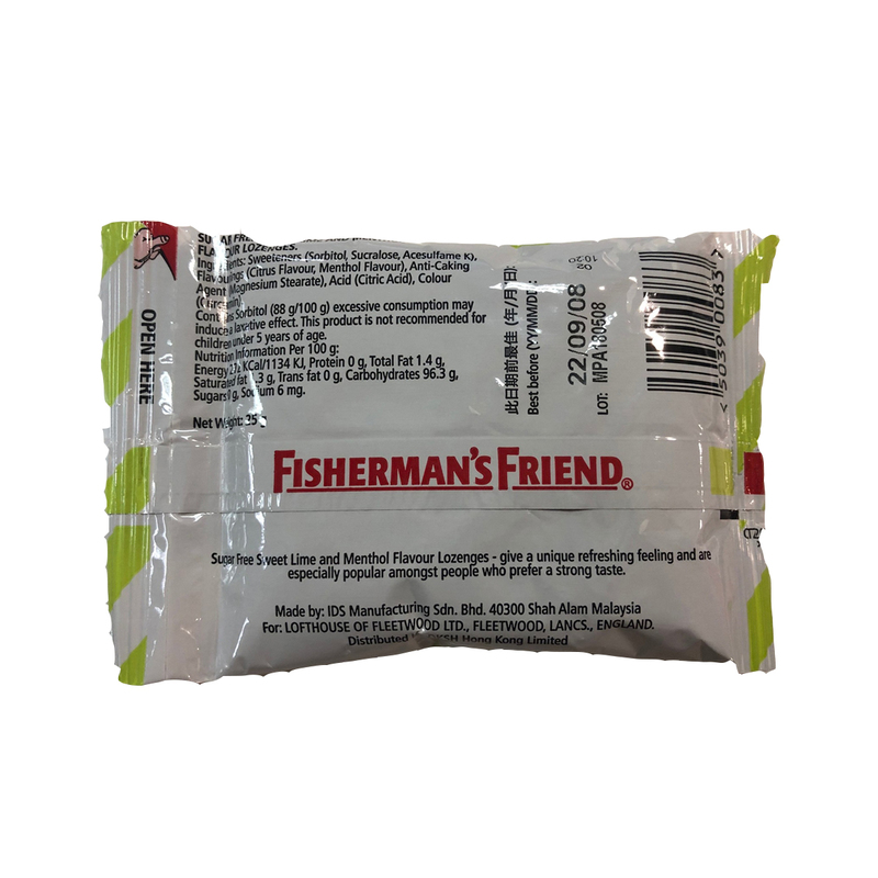 Fisherman's Friend Sugarfree Sweet Lime Lozenges 25g