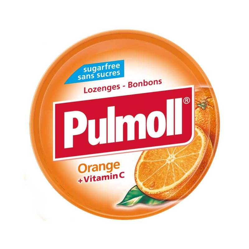 Pulmoll Lozenges Orange + Vitamin C, 45g