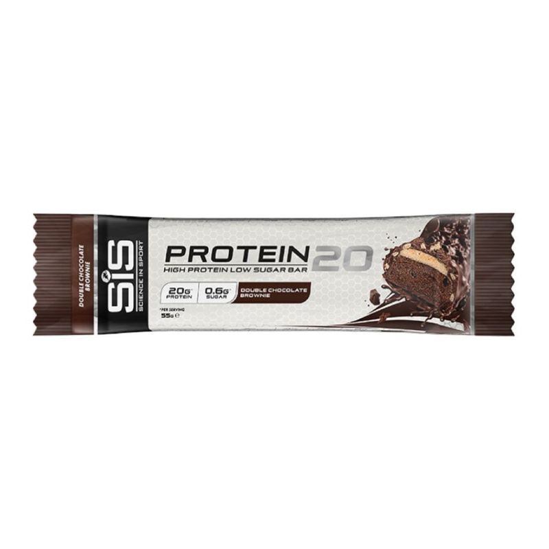 Science In Sport  Protein 20 Double Chocolate Brownie Bar 55g