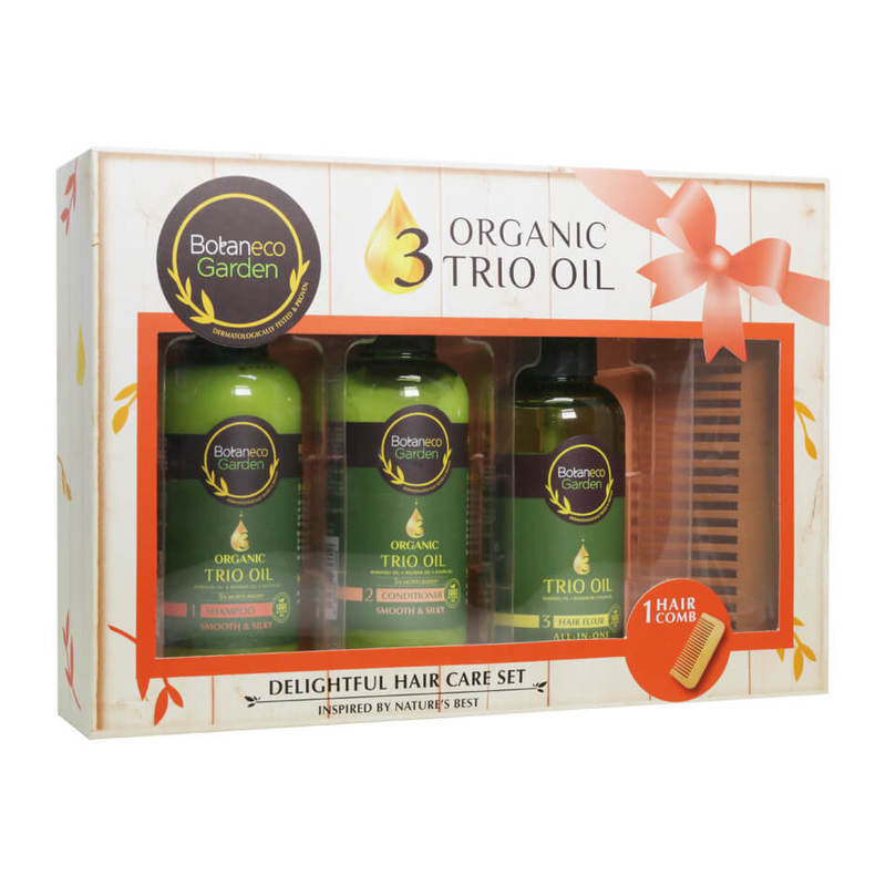 Botaneco Garden Organic Trio Oil Delightful Hair Care Set