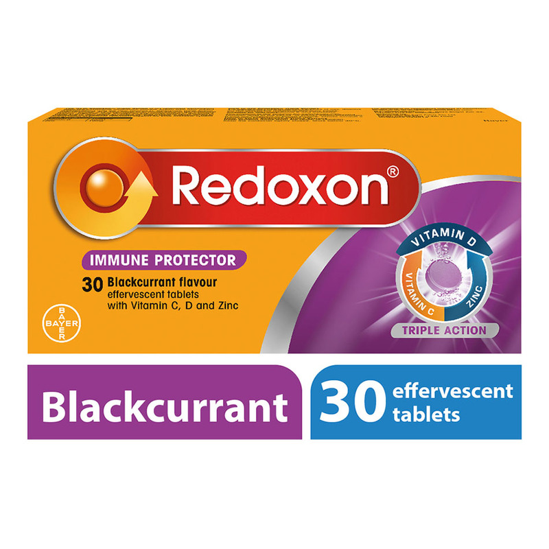 Redoxon Triple Action Efferverscent Blackcurrant, 30 tablets
