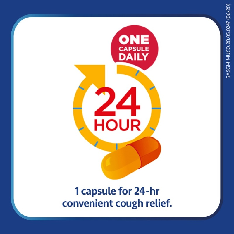 Mucosolvan 24Hours Cough Relief Capsules 10s