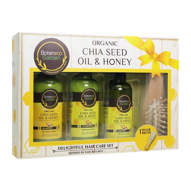 Botaneco Garden Organic Chia Seed and Honey Hair Care Set