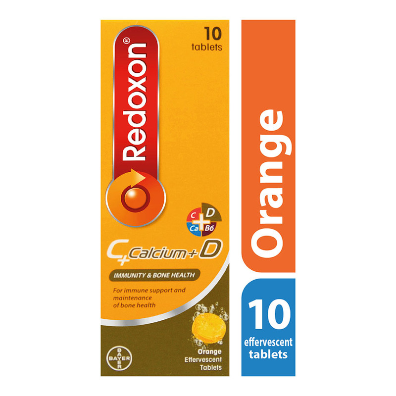 Redoxon C + Calcium + D Effervescent Orange, 10 tablets