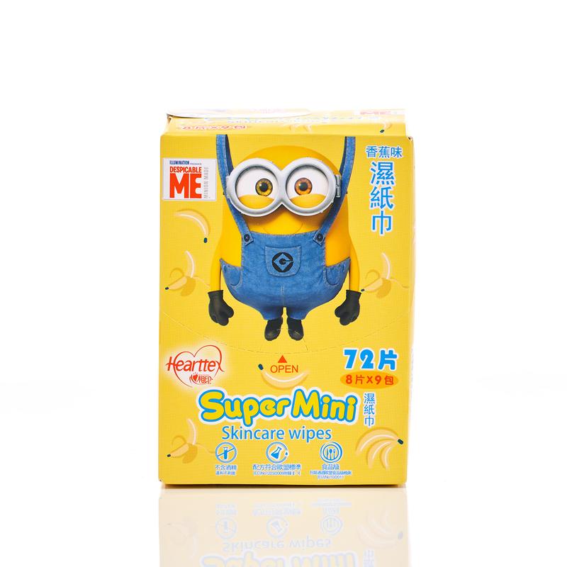 Hearttex Super Mini Wet Tissue 8pcs x 9packs