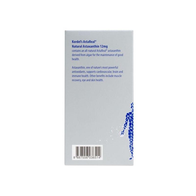 Kordel's AstaReal Natural Astaxanthin 12mg, 30 capsules