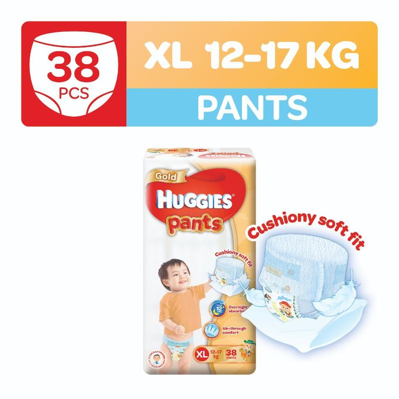 Huggies Gold Pants XL, 38pcs