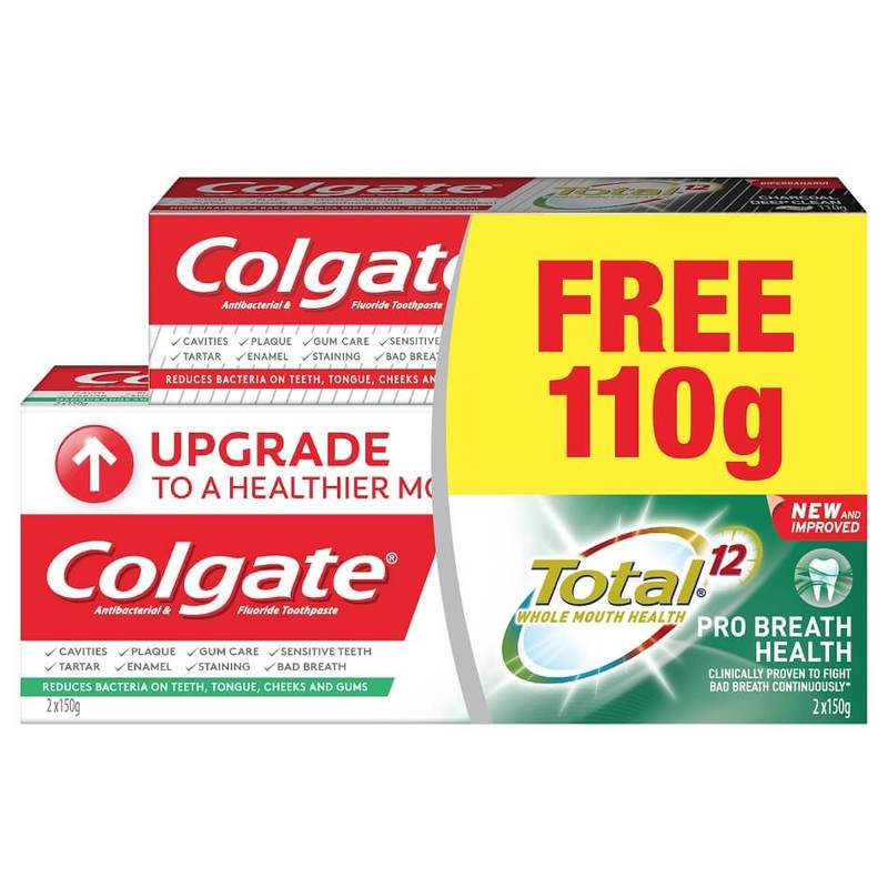 COL TP TOTAL BREATH HEALTH 2X150G+110G