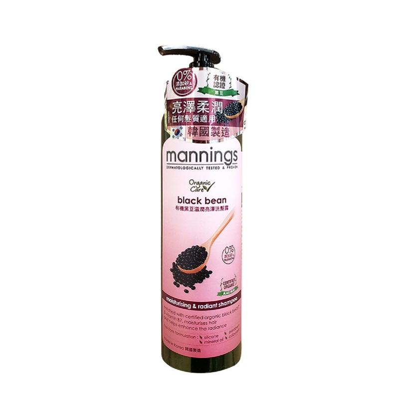 Mannings Organic Black Bean Shampoo 500mL