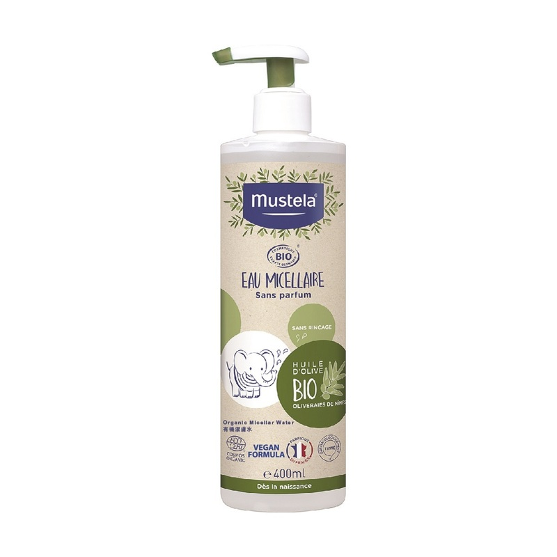 Mustela Organic Micellar Water (No Rinse) 400ml