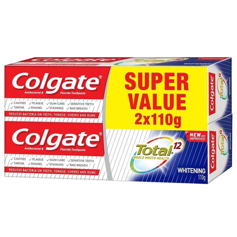 Colgate Total Whitening 110g Twinpack