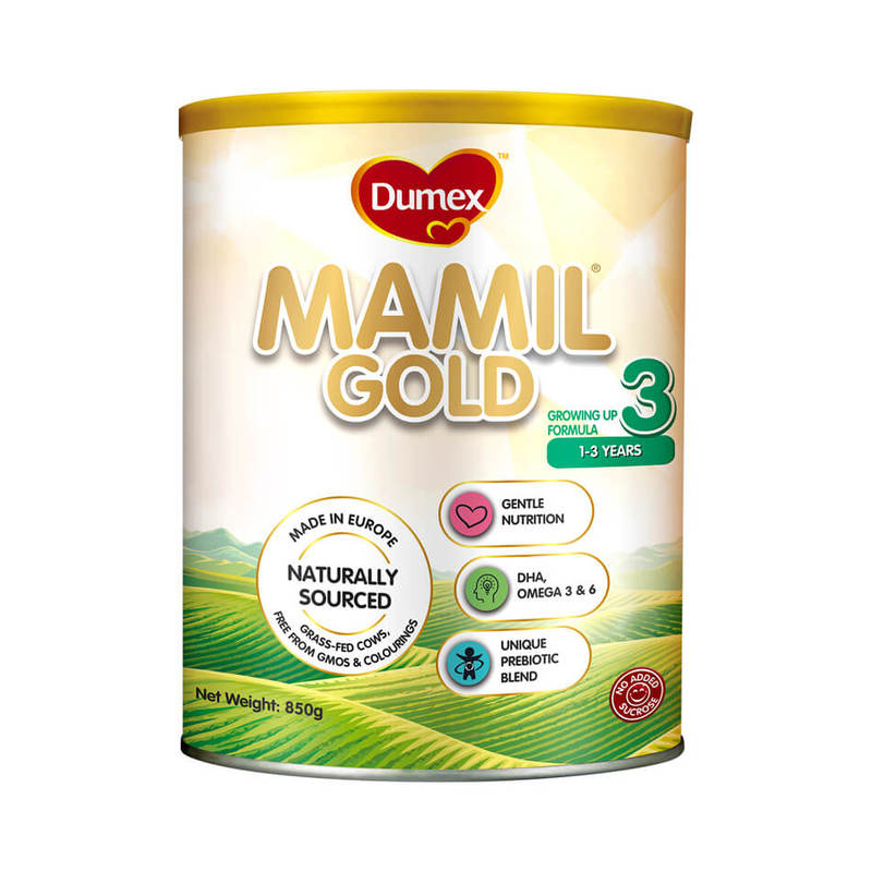 Dumex Mamil Gold Stage 3 Growing Up Kid Milk Formula (850g)