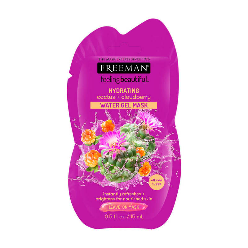 Freeman Hydrating Cactus + Cloudberry Water Gel Sachet Mask