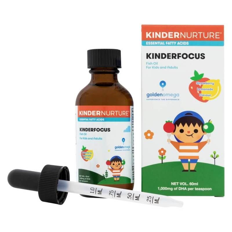KinderNurture KinderFocus Fish Oil- Strawberry Lemonade, 60ml Free Gift