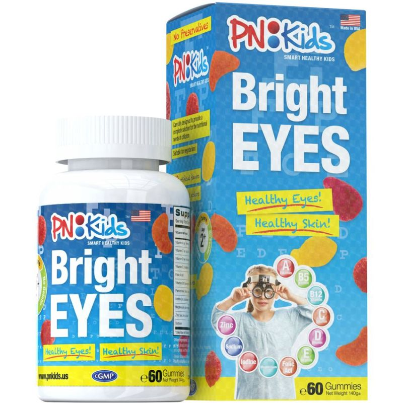 PNKids Bright Eyes, 60 Gummies