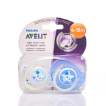Philips Avent 6-18M Night Time Soother x2pcs