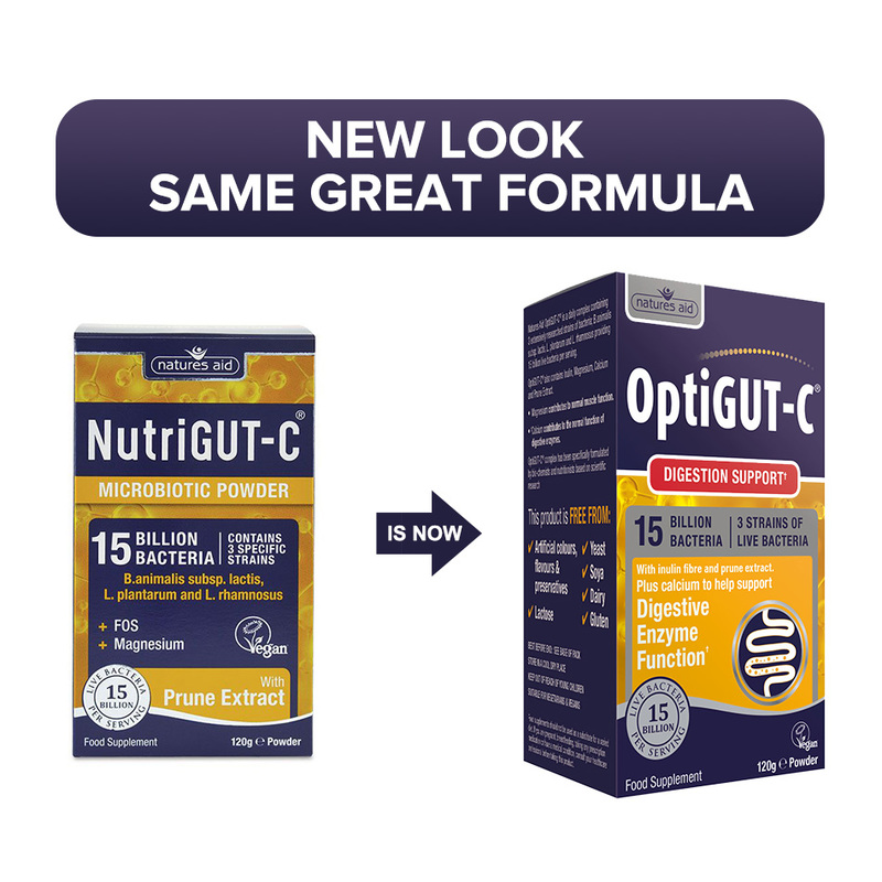 Natures Aid OptiGUT-C (15 Billion Bacteria) Probiotics, 120g